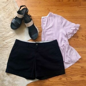 "Black Shorts 5"" Inseam Old Navy Favorite Khakis"